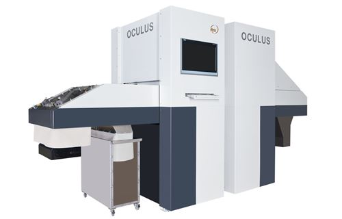 Visual sorting machine Oculus which removes contamination from recovered tobacco